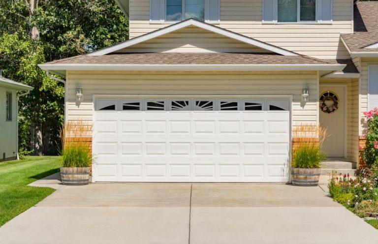 garage door of a house