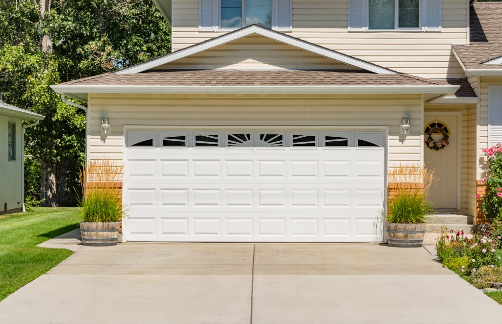 garage door of a house