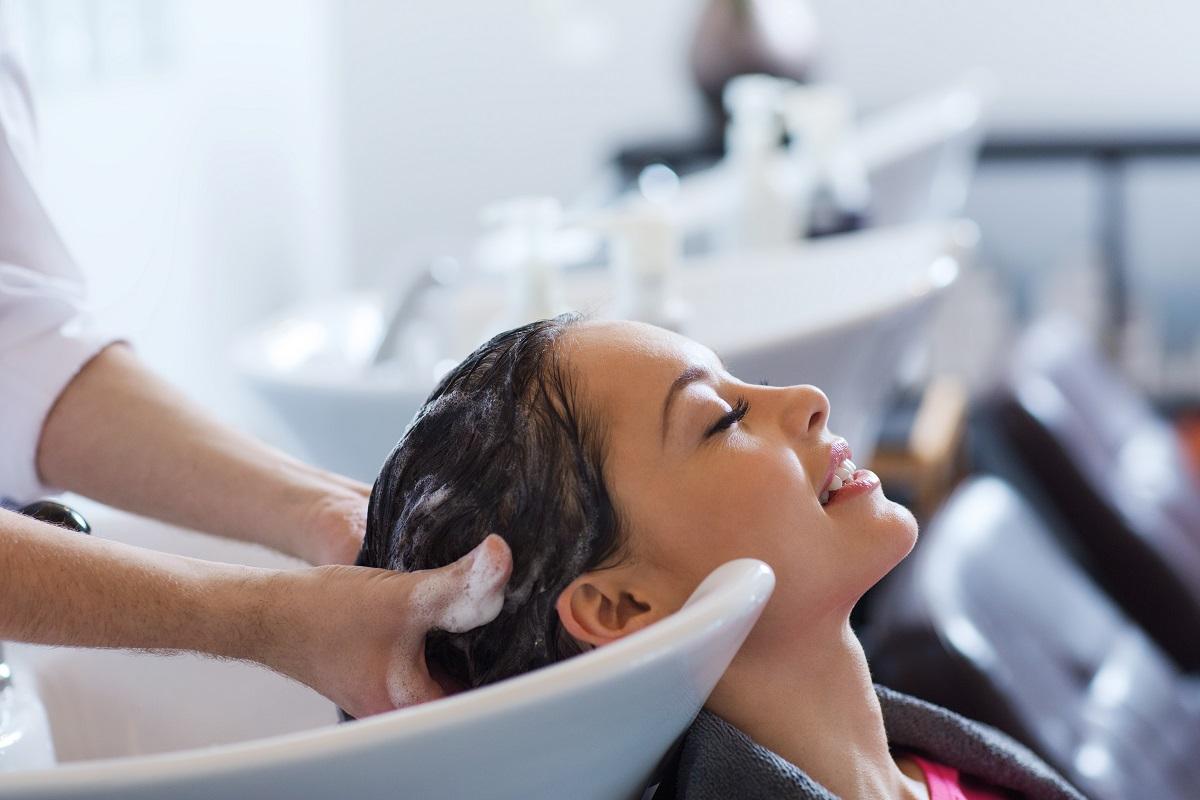 using shampoo