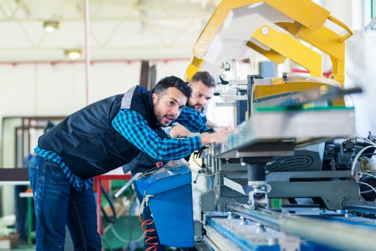 men in the manufacturing company